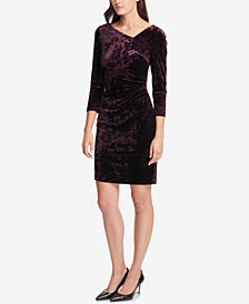 DKNY Crushed Velvet Sheath Dress, Created for Macy's