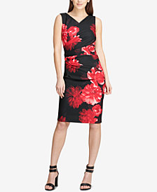 DKNY Floral-Print Sheath Dress, Created for Macy's