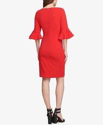 Dkny Flounce Sleeve Sheath Dress Created For Macy S Dresses