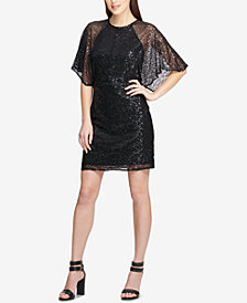 DKNY Cape-Sleeve Sheath Dress, Created for Macy's