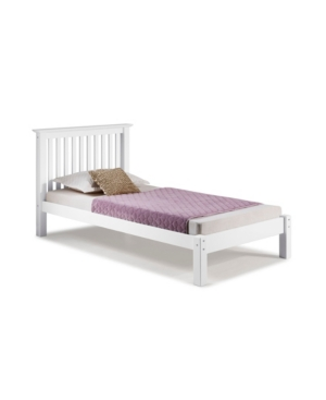 Alaterre Furniture Barcelona Twin Bed In White