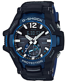 G-Shock Men's Solar Analog-Digital Gravity Master Black Resin Strap Watch 53.8mm