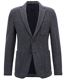BOSS Men's Slim-Fit Herringbone Blazer