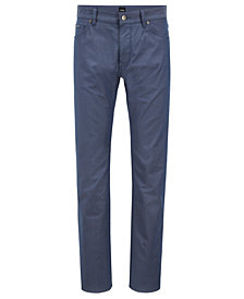 BOSS Men's Regular/Classic-Fit Two-Tone Stretch Denim Jeans
