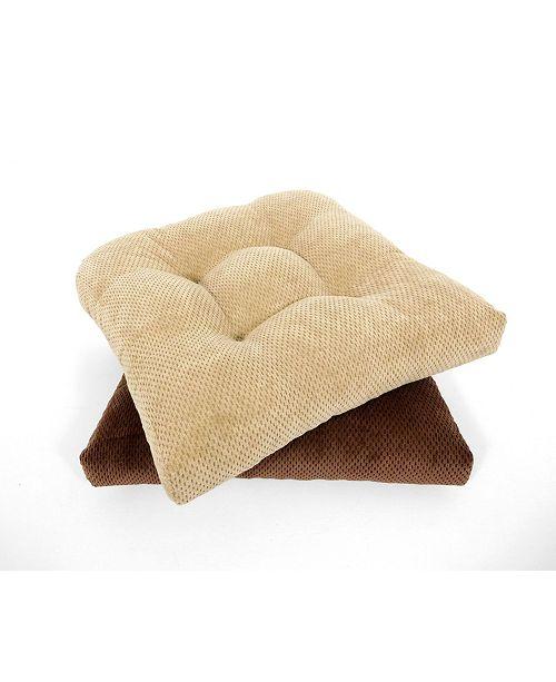 Arlee Home Fashions Delano Set of Two Chair Pad Seat Cushions