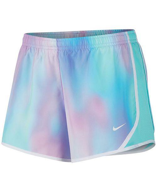 425776384143 Nike Big Girls Tempo Printed Running Shorts & Reviews - Shorts ...