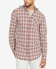 Buffalo David Bitton Men's Classic Fit Hooded Plaid Sak-X Shirt