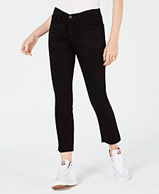 Flying Monkey Cropped Raw-Hem Jeans