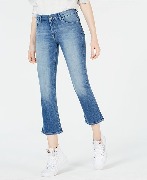 4c0d6dbe ... M1858 Lucy Mid-Rise Cropped Flared Jeans, Created for Macy's ...