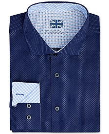 Michelsons of London Men's Slim-Fit Performance Micro Dot Dress Shirt