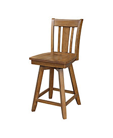"San Remo Counterheightstool - With Swivel And Auto Return - 24"" Seat Height"
