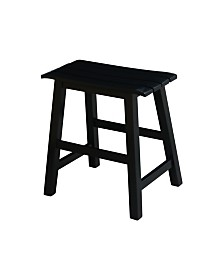 "Slat Seat Stool - 18"" Seat Height"