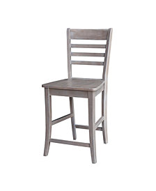 "Cosmo Counterheight Stool - 24""Seat Height - WaSeat Heighted FiniSeat Height"