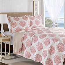 Full/Queen Coral Coast Quilt Set