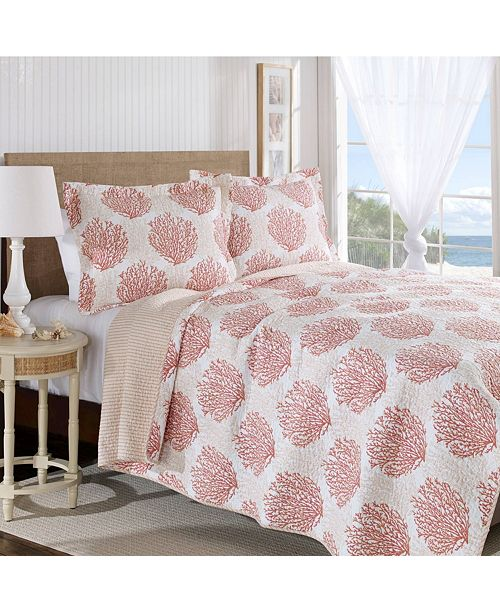 Laura Ashley Coral Coast Quilt Sets