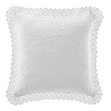 Solid White Crochet European Sham