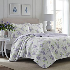 Twin Keighley Pastel Purple Quilt Set