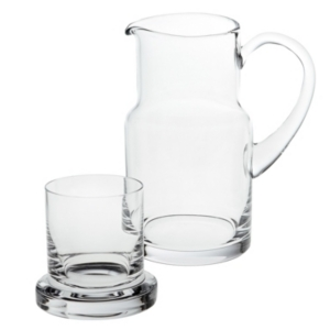 Badash Crystal 2-piece Manhattan Carafe Set