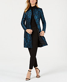 Anne Klein Jacquard Jacket, Turtleneck Sweater, & Contour Pants