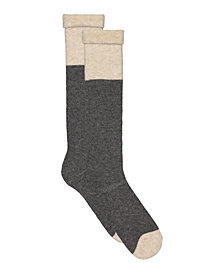 Lemon Wool Blend Colorblock Crew Socks