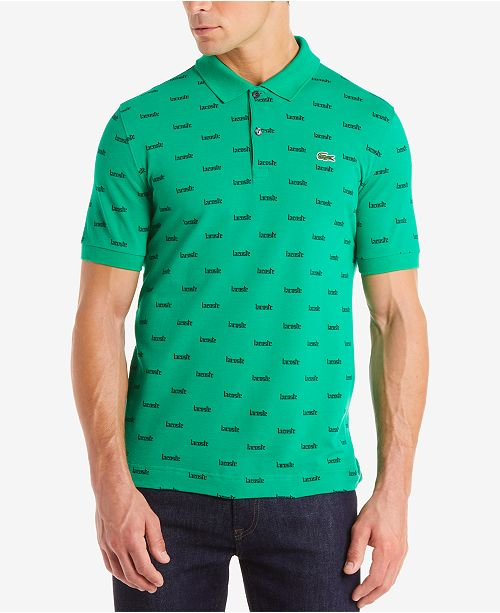 c3a4df3c2417 Lacoste Men s LIVE Ultra Slim-Fit Mini Logo-Print Polo   Reviews ...
