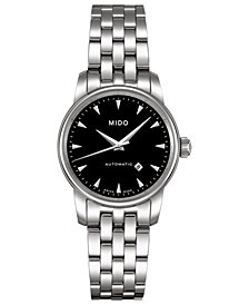 Mido Women's Swiss Automatic Baroncelli Stainless Steel Bracelet Watch 29mm