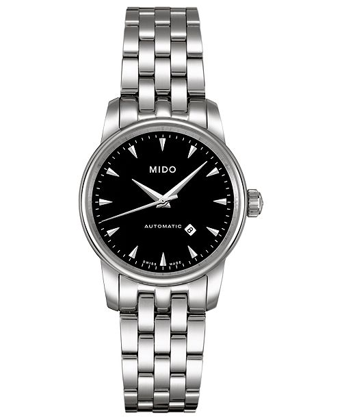 Mido Women's Swiss Automatic Baroncelli Stainless Steel Bracelet Watch 29mm
