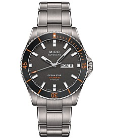 Men's Swiss Automatic Ocean Star Captain V Titanium Bracelet Watch 42.5mm