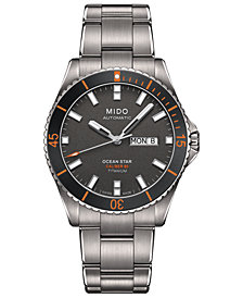 Mido Men's Swiss Automatic Ocean Star Captain V Titanium Bracelet Watch 42.5mm
