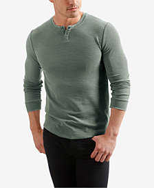 Lucky Brand Men's Burnout Thermal Henley