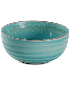 Gibson Reactive Glaze Blue Tall Serving Bowl, Created for Macy's