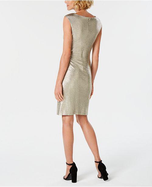 027141e9 Connected Metallic Cowl-Neck Dress & Reviews - Dresses - Women ...