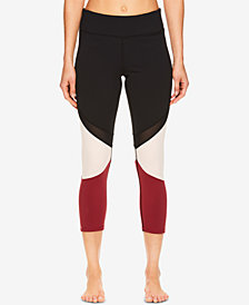 Gaiam Naomi Mesh-Detail Colorblocked Capri  Leggings