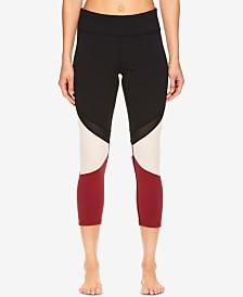 Gaiam Naomi Mesh-Detail Colorblocked Capri  Leggings