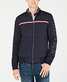 Tommy Hilfiger Men's Monroe Full-Zip Knit Bomber Jacket