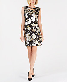 JM Collection Petite Floral-Print Sheath Dress, Created for Macy's