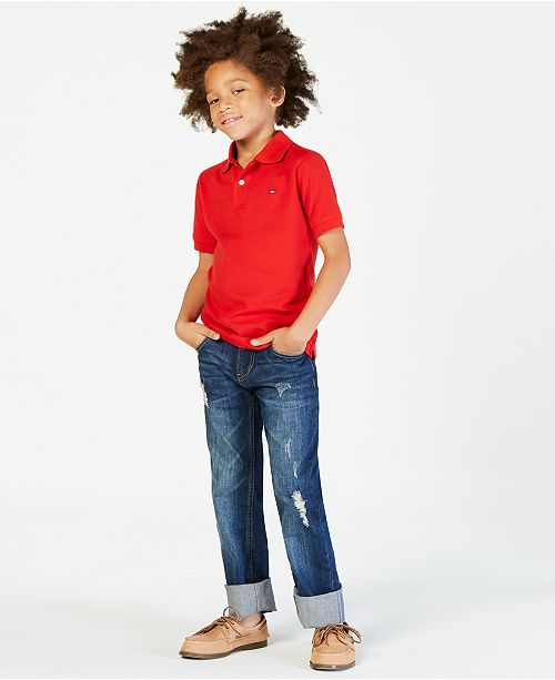 57298f4f4 Tommy Hilfiger Big Boys Ivy Stretch Polo Shirt   Reviews - Shirts ...