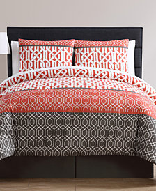 VCNY Home Adam 8-Pc. Geometric Bed-in-a-Bag Set Collection