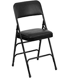 Folding Chair, packed 6 pcs per box in Black
