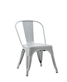 Stackable Indoor Outdoor Armless Metal Chair