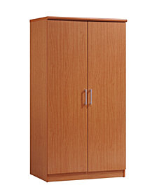 2-Door Armoire with 4-Shelves in Cherry