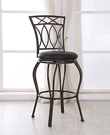 Swiveling Bar Chair with Faux Leather Upholstery, 44.5inch Tall