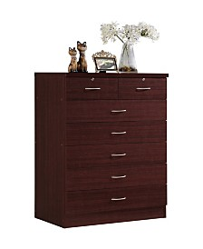 7-Drawer Chest with Locks on 2-Top Drawers