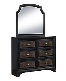 Farrah Mirror Only in Olivia Black Finish