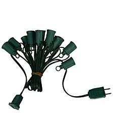1000' C7 Socket String with 1000 C7 Sockets on SPT1 18 Gauge Green Wire