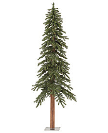 6' Natural Alpine Artificial Christmas Tree with 250 Clear Lights