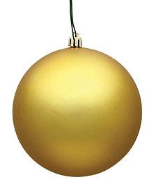 "4"" Gold Matte Ball Christmas Ornament, 6 per Bag"