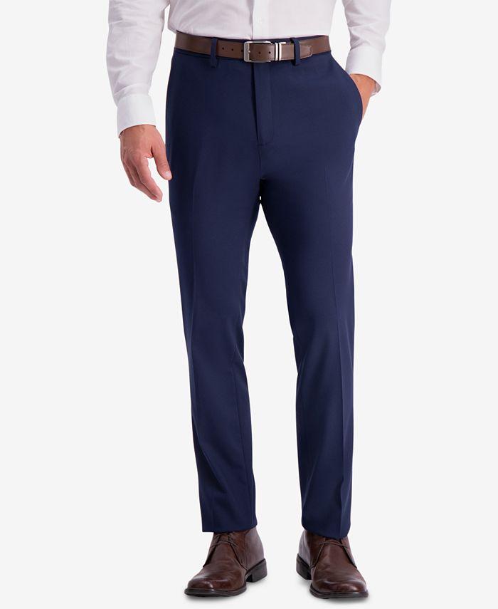 Kenneth Cole Reaction - Men's Slim-Fit Shadow Check Dress Pants