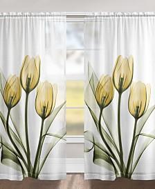 """Golden Tulips 84"""" Sheer Window Panel"""