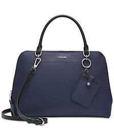 Calvin Klein Hudson Saffiano Leather Satchel